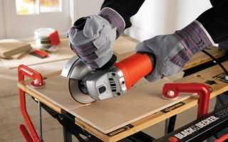 Как резать плитку болгаркой без сколов: особенности работы