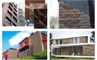 Облицовочная фасадная плитка: основные виды и выбор