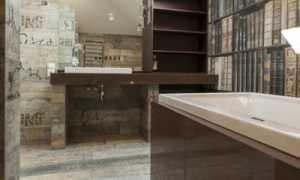 Дизайн: ванная комната для любителей чтения