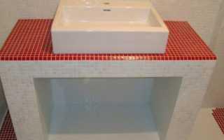 Cтолешница из мозаики своими руками в ванной