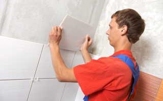 Как класть плитку на стены своими руками