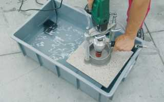 Как просверлить отверстие в керамической плитке и чем