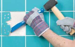 Как заменить разбитую плитку на полу или стене в ванной комнате