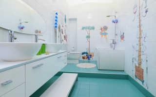 Наклейки на кафельную плитку в ванную: способы декора