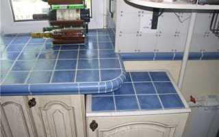 Кухонная столешница из плитки своими руками: практика