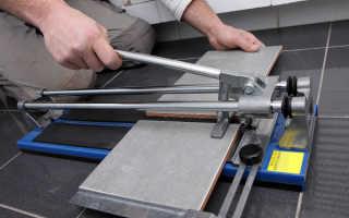 Как резать плитку плиткорезом ручным