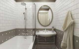 Уютный дизайн небольшой ванной