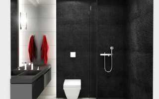 Дизайн для ванной в стиле хай-тек