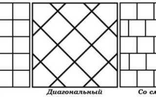 Варианты и способы раскладки керамической плитки: основные правила