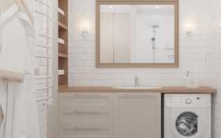 Дизайн: белая ванная (используем плитку под камень)