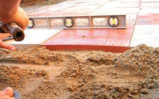 Укладка тротуарной плитки на песок: надежная технология