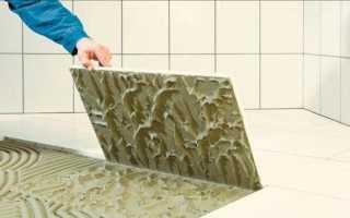 Расход плиточного клея на 1м2 плитки: нормы на практике