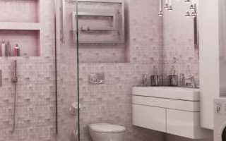 Дизайн: ванная комната в нежно-сиреневых тонах