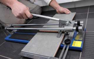 Как резать плитку плиткорезом ручным и электрическим