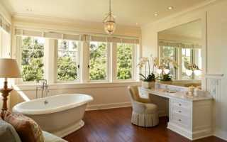 Дизайн большой ванной комнаты с окном — фото вариантов