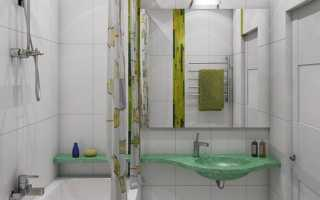 Белая ванная с декором в виде ростков бамбука