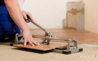 Плиткорез ручной: как пользоваться?