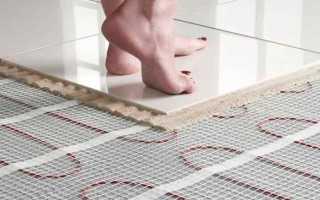 Укладка плитки на теплый пол (электрический, водяной) своими руками