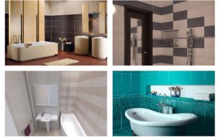 Дизайн плитки в ванной комнате: выбор раскладки и цвета