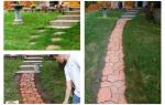 Форма для садовой дорожки: поэтапное изготовление дорожек