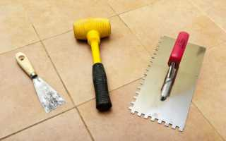 Инструменты и приспособления для укладки плитки