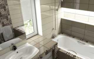 Ванная, выложенная испанским кафелем Minim