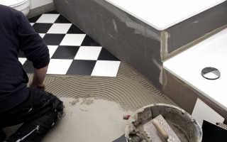 Как положить плитку на пол в ванной своими руками