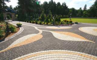 Варианты укладки тротуарной плитки: схемы и способы