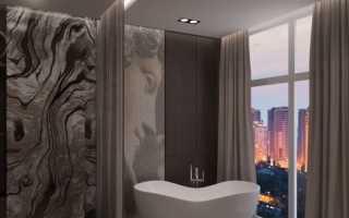 Дизайн: ванная комната в стиле lounge