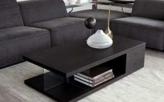 Правила выбора журнального столика к дивану
