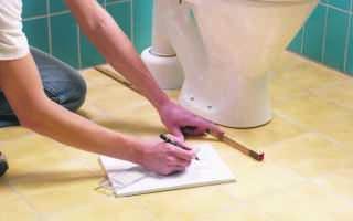 Установка унитаза на кафель: делаем своими руками