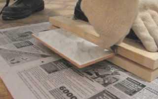 Как резать плитку стеклорезом и можно ли?