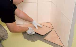 Укладка плитки на пол по диагонали (ромбом)