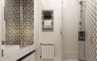 Дизайн: строгий, лаконичный интерьер ванной комнаты