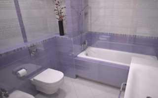 Фиолетовый вариант для ванной