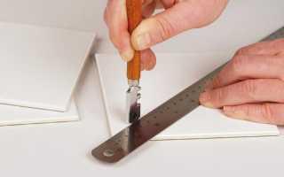 Как резать плитку стеклорезом в домашних условиях