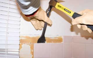 Как снять плитку с пола быстро и без проблем