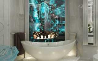 Дизайн: фантастический вариант оформления ванной комнаты