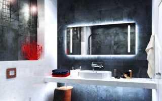 Эффектная темная ванная