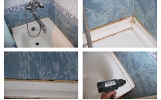 Установка пластикового бордюра в ванной и на кухне: советы