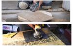 Как пользоваться болгаркой при резке плитки своими руками