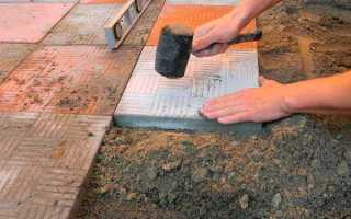 Как класть на улице плитку: при какой температуре можно?