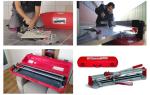 Ручной плиткорез: как выбрать и работать инструментом