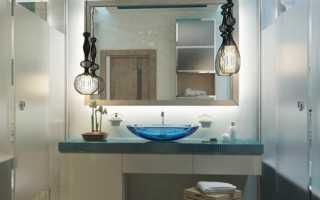 Ванная с преобладанием стеклянных поверхностей