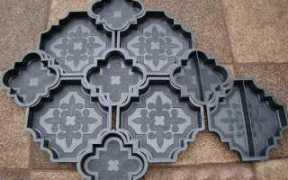 Формы для тротуарной плитки своими руками: практика изготовления