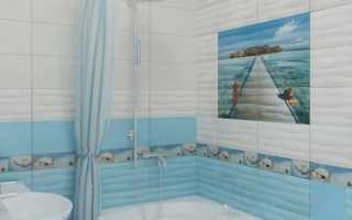 Вариант для оформления небольшой ванной комнаты