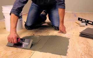 Как положить плитку на деревянный пол: способы, технология укладки