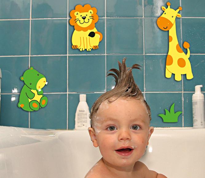 Детские наклейки в ванной