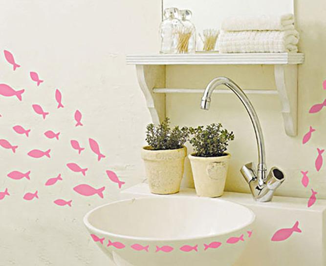 Наклейки для ванной своими руками