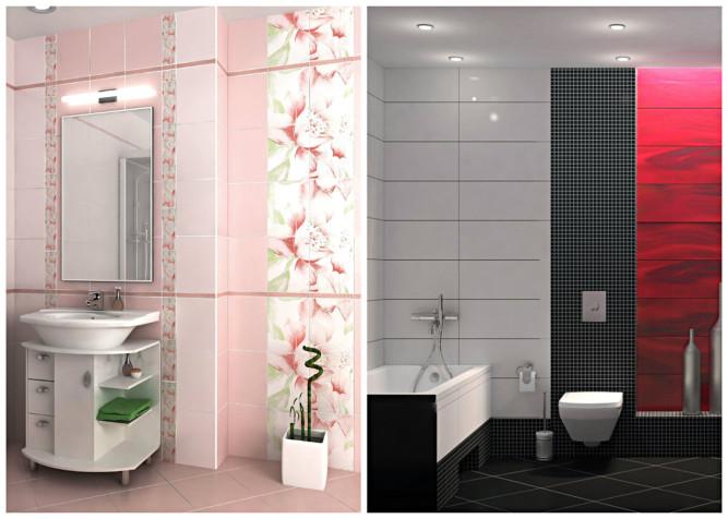 Варианты цветового решения ванной